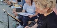 Юные художники из Благовещенска побывали на мастер-классах московской художницы Юлии Нуждиной
