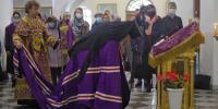 В Неделю 5-ю Великого поста. Преподобной Марии Египетской. Архиепископ Лукиан совершил Литургию Василия Великого в Благовещенском кафедральном соборе